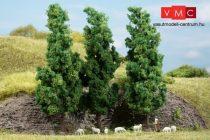 Auhagen 70940 Lombos fák, 3 db, sötétzöld - 15 cm