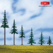 Auhagen 71917 Magas fenyőfa talppal, 5 db - 14 cm magas (H0/TT)