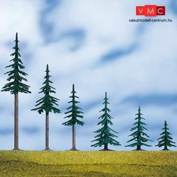 Auhagen 71918 Magas fenyőfa talppal, 5 db - 19 cm magas (H0/TT)