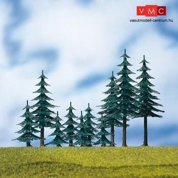 Auhagen 71936 Magas fenyőfa, műanyag, 10 db, 4-10 cm közötti magasság (H0/TT)