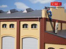 Auhagen 80216 Ablakkészlet ipari épületekhez M - 20 db, zöld (H0)