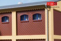 Auhagen 80218 Ablakkészlet ipari épületekhez M - 20 db, kék (H0)
