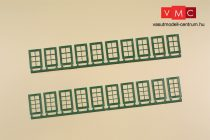 Auhagen 80224 Ablakok ipari épületekhez Q, R - zöld (H0)