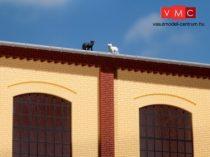 Auhagen 80402 Oszlopok és lezáró elemek (fríz) épületekhez, téglavörös (H0)