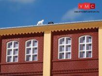 Auhagen 80403 Oszlopok és lezáró elemek (fríz) épületekhez, sárga (H0)