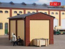 Auhagen 80412 Oromzat és épületsarok kisebb ipari épületekhez, téglavörös (H0)