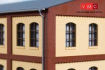 Auhagen 80414 Sarokelem ipari épületek felső emeletéhez, téglavörös (H0)