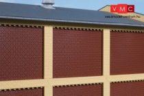 Auhagen 80417 Oszlop és lezáró elemek (fríz) ipari épületek felső emeletéhez, sárga (H