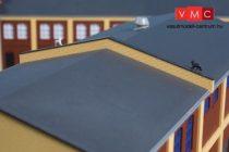 Auhagen 80419 Tűzvédelmi válaszfal ipari épületek tetejéhez, sárga, 2 db (H0)