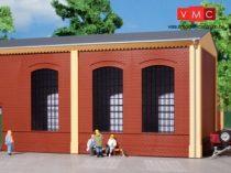 Auhagen 80503 Dekorlap, téglafal, ipari ablaknyílásokkal, 2325A téglavörös, 2 db