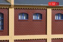 Auhagen 80524 Dekorlap, emeleti téglafal gyárépületekhez, 2532A, 8 db - téglavörös (H0)