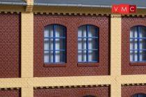 Auhagen 80525 Dekorlap, emeleti téglafal ablaknyílásokkal, gyárépületekhez, 2532C, 8 db -