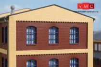 Auhagen 80527 Dekorlap, emeleti téglafal ablaknyílásokkal, gyárépületekhez, 2532E, 4 db -