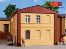 Auhagen 80601 Dekorlap, téglafal 2324B, ablaknyílásokkal, sárga