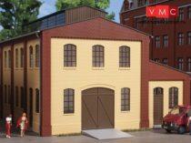 Auhagen 80618 Dekorlap, téglafal 2391A, ajtónyílással és ablakokkal L (H0) - sárga