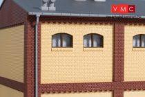 Auhagen 80624 Dekorlap, emeleti téglafal gyárépületekhez, 2532A, 8 db - sárga (H0)