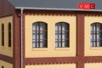 Auhagen 80625 Dekorlap, emeleti téglafal ablaknyílásokkal, gyárépületekhez, 2532C, 8 db -