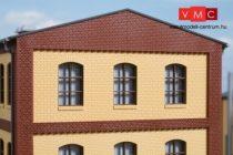 Auhagen 80627 Dekorlap, emeleti téglafal ablaknyílásokkal, gyárépületekhez, 2532E, 4 db -