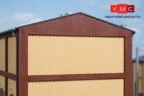 Auhagen 80628 Dekorlap, emeleti téglafal gyárépületekhez, 2532F, 4 db - sárga (H0)