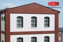 Auhagen 80727 Dekorlap, emeleti téglafal ablaknyílásokkal, gyárépületekhez, 2532K, 4 db -