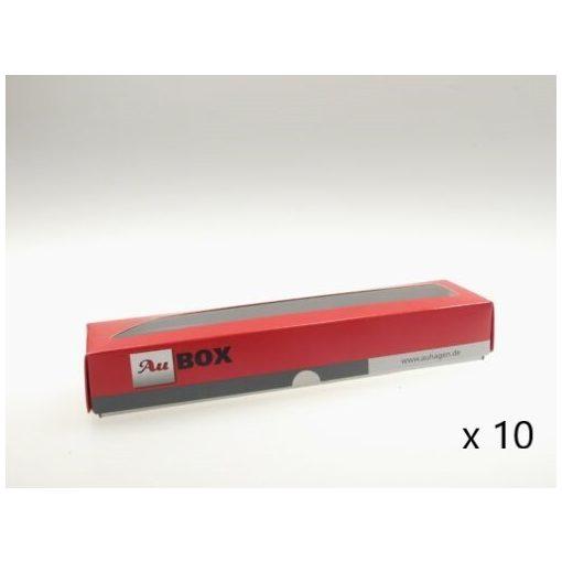 Auhagen 99304 Tárolódoboz vasúti járműveknek - Au-BOX XXL, 375×60×50 mm, 10 db