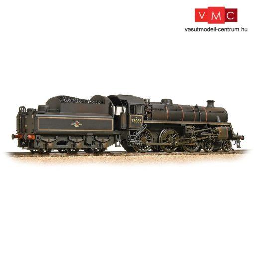Branchline 31-119 BR Standard 4MT with BR2 Tender 75035 BR Lined Black (Late Crest) - Weathered