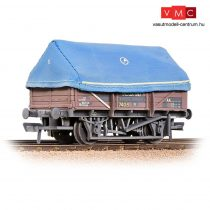 Branchline 33-085A 5 Plank China Clay Wagon BR Bauxite (TOPS) With Hood - Weathered