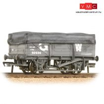 Branchline 33-088 5 Plank China Clay Wagon GWR Grey With Tarpaulin Cover - Weathered