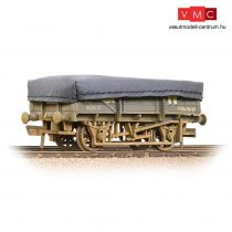 Branchline 33-088A 5 Plank China Clay Wagon GWR Grey With Tarpaulin Cover - Weathered