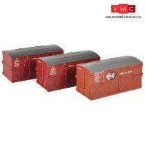 Branchline 36-004A BD Large Containers BR Bauxite & BR Crimson (x3)