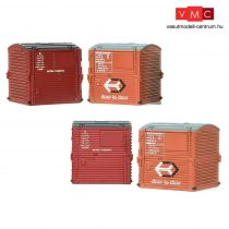 Branchline 36-071 Type A Small Containers (x4) BR Bauxite & BR Crimson