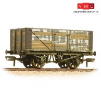 Branchline 37-114 7 Plank Wagon Fixed End 'Baldwin' Grey - Weathered