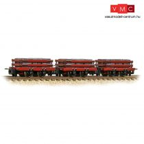 Branchline 393-076 Slate Wagons 3-Pack Red with Slate Load - Includes Wagon Load