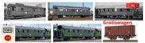 Brawa B2015 Személyvonat-készlet, 6-részes, 5 db Donnerbüchse személykocsi + 1 db G10 fede