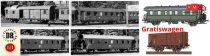 Brawa B2016 Személyvonat-készlet, 6-részes, 5 db Donnerbüchse személykocsi + 1 db G10 fede