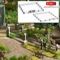 Busch 1022 Acélcső-kerítés betonoszlopokkal, kapuval (H0)
