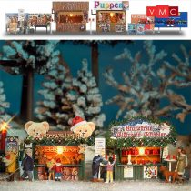 Busch 1060 Karácsonyi árusítóbódék kiegészítőkkel (H0)