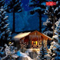 Busch 1085 Téli erdei kunyhó belső világítással (H0)