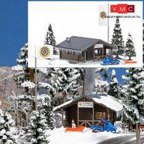 Busch 1086 Hegyimentők menedékház télen, kiegészítőkkel (H0)