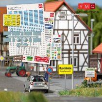 Busch 1173 Közlekedési tábla és városi feliratok - Buschheide (H0)