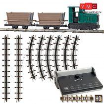 Busch 12001 Gazdasági vasút kezdőkészlet, tőzegszállító lórékkal (H0f)