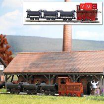 Busch 12006 Bányavasúti kezdőkészlet: LKM Ns 2f dízelmozdony csillés tehervonattal (H0f)