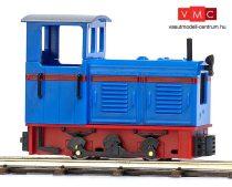 Busch 12122 Gazdasági vasúti dízelmozdony LKM Ns 2f, kék/piros (H0f)