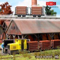 Busch 12203 Téglaszállító lórék (2 db) gazdasági vasúthoz (H0f)
