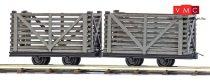 Busch 12214 Gazdasági vasúti lórék (2 db), tőzeg szállításhoz (H0f)