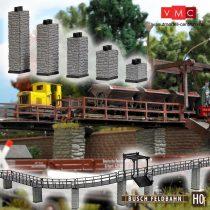 Busch 12387 Emelkedő pillérek gazdasági vasúthoz (5 db) (H0f)