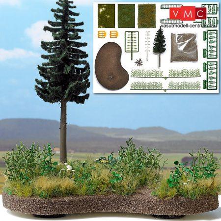 Busch 1259 Erdei mezőrészlet - építőkészlet (H0)