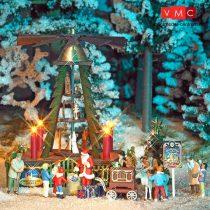 Busch 1415 Főtéri karácsonyi piramis világítással (H0)