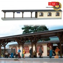 Busch 1467 Állomási peron Adorf (2 db), fedett aluljáró-lejárattal, valódi fából (H0)