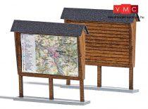 Busch 1495 Erdei információs tábla (2 db), valódi fából (H0)